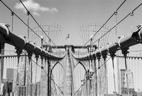 Brooklyn Bridge in B&W 9-28-13